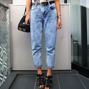 Sasson Vintage 80's High Rise Acid Wash Mom Jeans